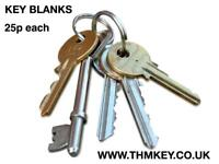 Good quality blank keys - for key cutting machine