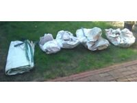 Builder's bags x 5