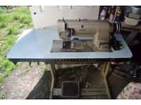 MITSUBISHI COMPOUND FEED Industrial SEWING Machine with PIPING FOOT Model DU-105
