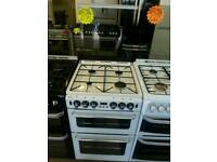 STOVES 55CM GAS DOUBLE OVEN COOKER IN WHITE