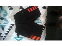 Black Adidas style mens shorts size 34