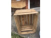 VINTAGE WOODEN APPLE CRATES VARIOUS USES