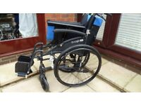 2 month old E Logic Wheelchair 20inch Good Condition