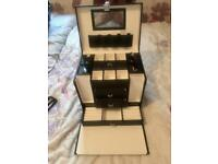 Large, black jewellery box