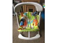 Fisher price rainforest baby seat/swing
