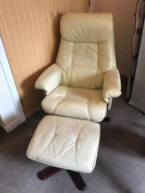 Leather Swivel Recliner For Sale