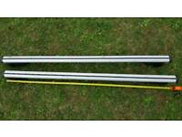 Roof bars for raised rails