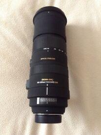 Sigma DG telescopic lens 150-500mm APO HSM