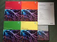 Unused Open University level 1 S104 Exploring Science, books 1-4 and DVDs