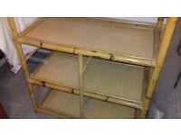 Vintage Bamboo Shelves