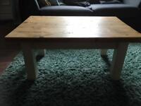 Reclaimed wood coffee table and console table
