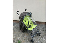 Lightweight stroller pushchair with raincover
