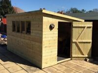Bespoke wood sheds