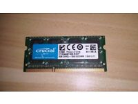 Crucial 8GB 1600MHZ DDR3 RAM Stick for Laptop