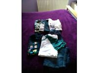 Selection of young teenage boys t shirts and shorts