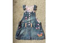 Denim Embroidered Dress - Age 12-18 months