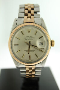 Rolex Datejust 18K Rose Gold & Stainless Steel Jubilee