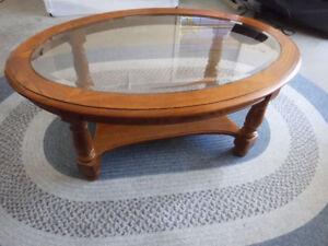 Beautiful wood oval coffee table