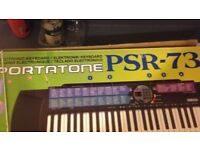 Yamaha electric keyboard PSR 73 excellent condition