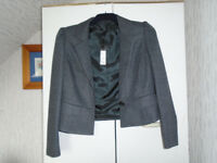 LADIES BRAND NEW with LABELS, LE MARAIS, GREY FITTED JACKET SIZE 14 by LINEA