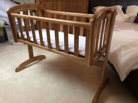 Troll Wooden Swinging Baby's Crib - As new