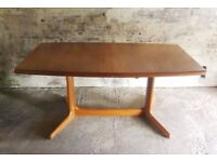 Skovby Danish teak extending dining table
