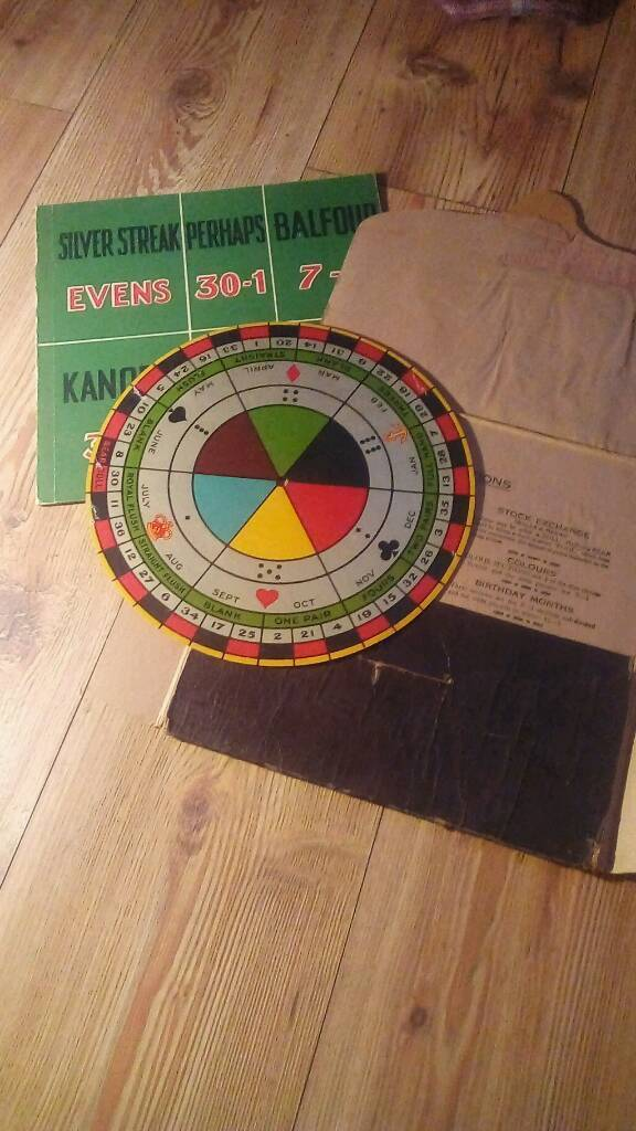 Vintage gramophone game rare collectable poker roulette dice games