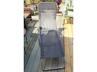Garden Sun Lounger Tilting Recliner Chair - Foldable & Very Comfortable