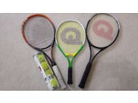 Tennis Racquets Set of 3 for family