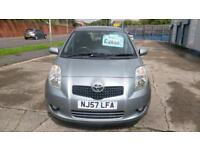 TOYOTA YARIS 1.3 5DOOR ONLY 85K MILES HISTORY ALLOYS AIR CON 2007 57 REG