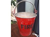 Vintage retro London Underground fire bucket mid century original