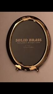 Oval Brass picture frame