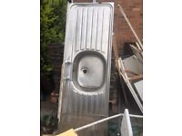 large sink may be used for utility sink as a spare sink