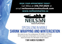 Mobile Shrink Wrapping and Winterization