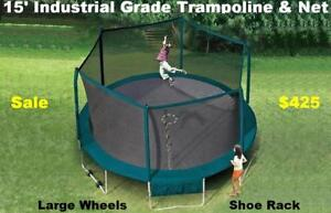 Hugh Trampoline Sale 15ft Trampoline With Netting Industrial