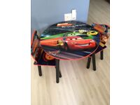 Disney cars table with two chairs VGC