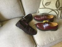 Loake original men's cherry Brighton loafers size 10