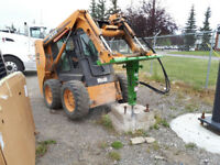 Skid Steer  Bobcat fence posts, deck piles Contract or By Hour