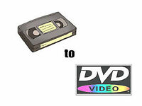 DIGITAL DVD COPY, TRANSFER, CONVERSION FROM VHS TO DVD, CD