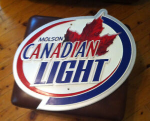 Molson Canadian Light Bar Sign