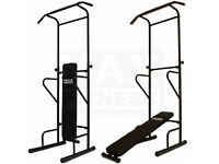 Pullup and Dipping Freestanding, Adjustable, Metal, Tower / Powertower