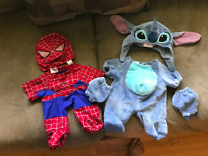 Spiderman and stitch build a bear costume w