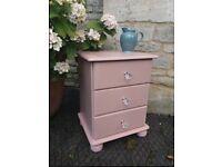 Pink Bedside Table