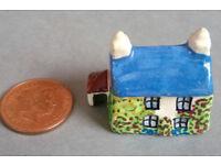 vintage miniature ceramic house