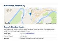 1 night stay at Roomzzz Chester City Sat 26th- Sun 27th August 2017, 2 Bedroom Apartment, £200 ONO