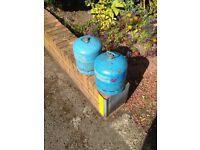 2 x Camping Gaz 907 Refillable Gas Bottles (empty)