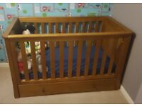 Great Condition Oak Effect Cot Bed