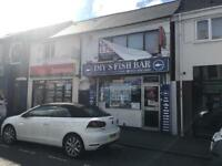 Fish and chip A3 licensed with fittings and FLAT in blackheath rowley regis