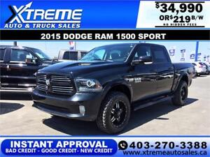 2015 Dodge Ram 1500 Sport **INSTANT APPROVAL** $0 DOWN $219/BW!