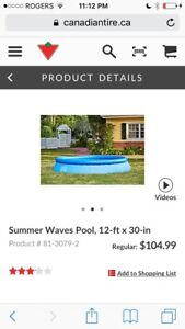Summer Waves above ground pool